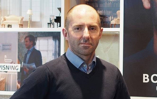 Sverre Martin Hagh er eiendomsmelger i DNB Eiendom