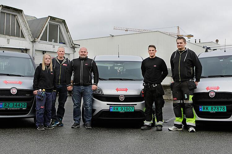 Elisabeth Salte, Åsmund A. Næss, Kjetel Bjelland, Thomas Haga og Kevin Tunge