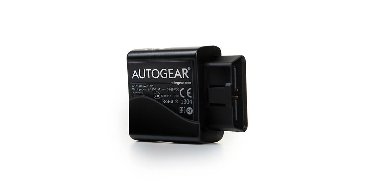 Autogears GPS-enhet er enkel å installere i bilen. All relevant informasjon om jobbkjøringen din registreres automatisk i kjøreboken.
